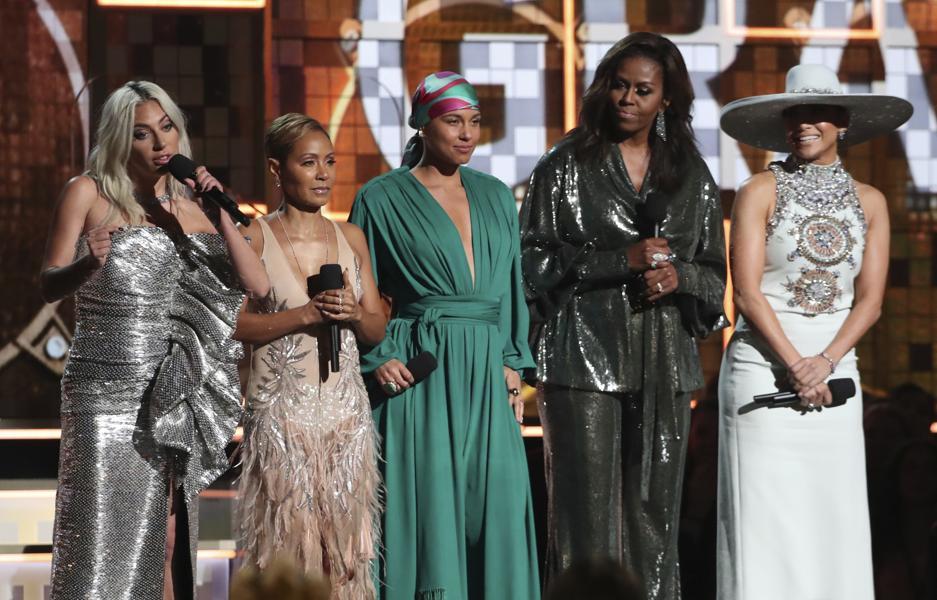 """""""Michelle Obama se roba el protagonismo del Grammy 2019 con poderoso discurso"""""""
