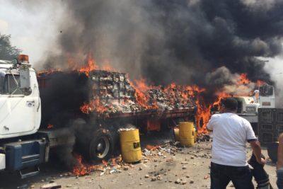 VIDEO | Investigación de NY Times: ayuda humanitaria a Venezuela fue quemada por seguidor de Guaidó