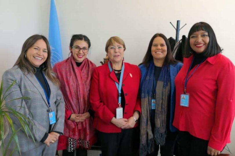 Diputadas de la ex Mayoría y el Frente Amplio se reúnen con Bachelet en la ONU