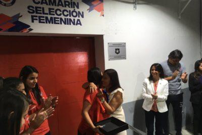 FIFA resaltó camarín exclusivo de Roja femenina en el Estadio Nacional