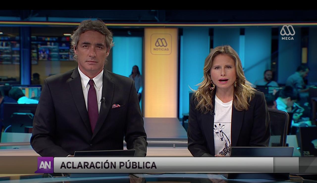 """Mega se disculpa en pantalla por emitir imágenes de """"otra manifestación"""": """"En ningún caso hubo intencionalidad"""""""