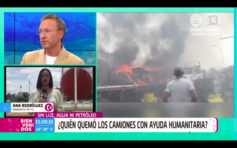 """""""Me extraña tu pregunta"""": el momento en que Martín Cárcamo enfrenta a Jürgensen durante discusión con activista venezolana"""