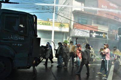 Marcha convocada por familia Catrillanca culminó con incidentes en Temuco