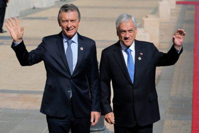 Piñera y Macri firman convenio para potenciar comercio bilateral