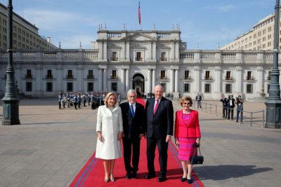 Sebastián Piñera y reyes de Noruega comparten preocupación por cambio climático