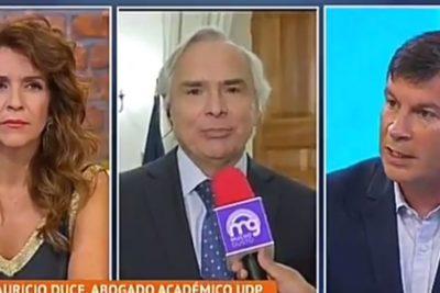 VIDEO | El cambio de rostro de Chadwick mientras abogado le argumentaba contra el control de identidad en un matinal