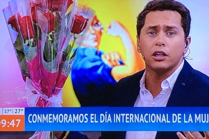 Cien rosas: ola de críticas contra Karol Lucero por su gesto en pantalla en medio de manifestaciones del 8M
