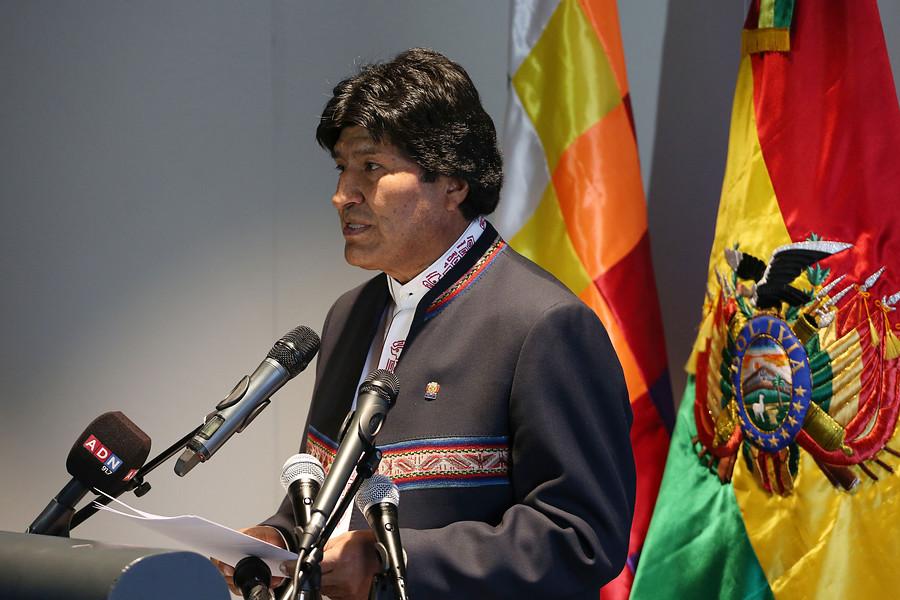 """""""Evo Morales reiteró que la demanda marítima es"""
