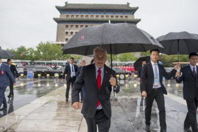 VIDEO |Sebastián Piñera evitó referirse a la molestia de Codelco por su ausencia en viaje a China