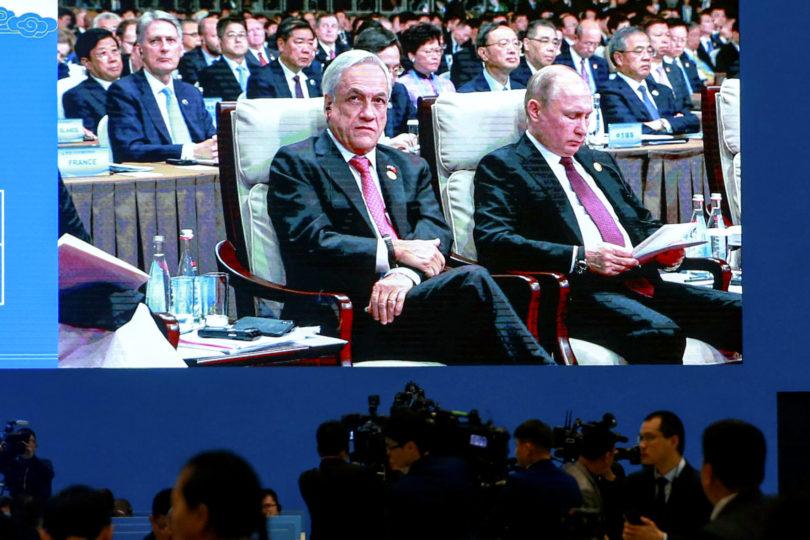 Piñera y Putin coinciden en foro en Beijing: conversaron sobre Corea del Norte, APEC y COP25