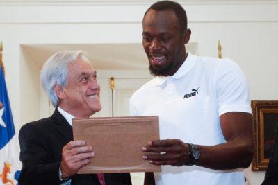 Usain Bolt respondió en Twitter al meme que le mostró Piñera en La Moneda