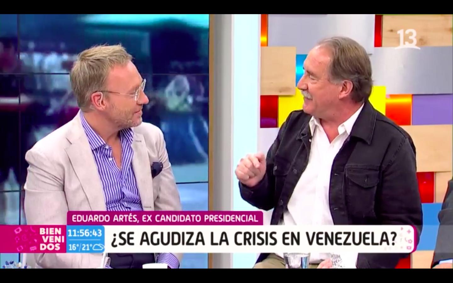 """""""Así fue el encontronazo en vivo entre Martín Cárcamo y Eduardo Artés por crisis en Venezuela"""""""