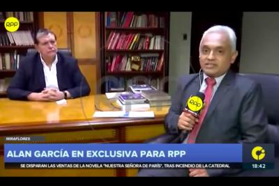 """Periodista que entrevistó por última vez a Alan García: """"Jamás me iba a imaginar que iba a tomar esta decisión"""""""
