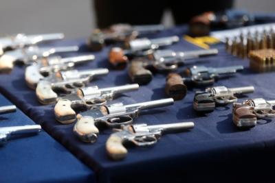 Buscan modificar Ley de Armas: Máximo 2 por persona