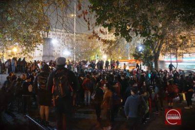 Protesta contra el TPP-11 terminó con barricadas y detenidos