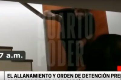 VIDEO | TV peruana reveló imágenes del operativo que terminó con Alan García disparándose