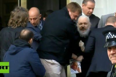 """Confirman que detención de Julian Assange fue por solicitud de extradición desde EE.UU. por """"piratería informática"""""""