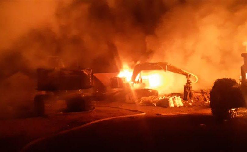 Investigan dos ataques incendiarios ocurridos en 24 horas en La Araucanía