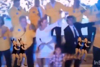 """VIDEO   Cathy Barriga bailó """"Man! I Feel Like a Woman"""" en cuenta pública de Maipú marcada por princesas y carruajes"""