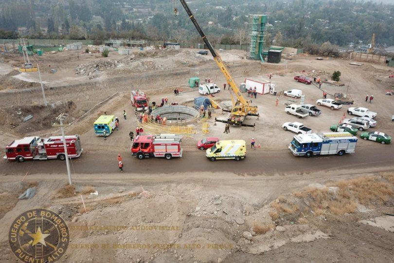 Trabajador murió tras caer en pozo de construcción de Aguas Andinas en Pirque