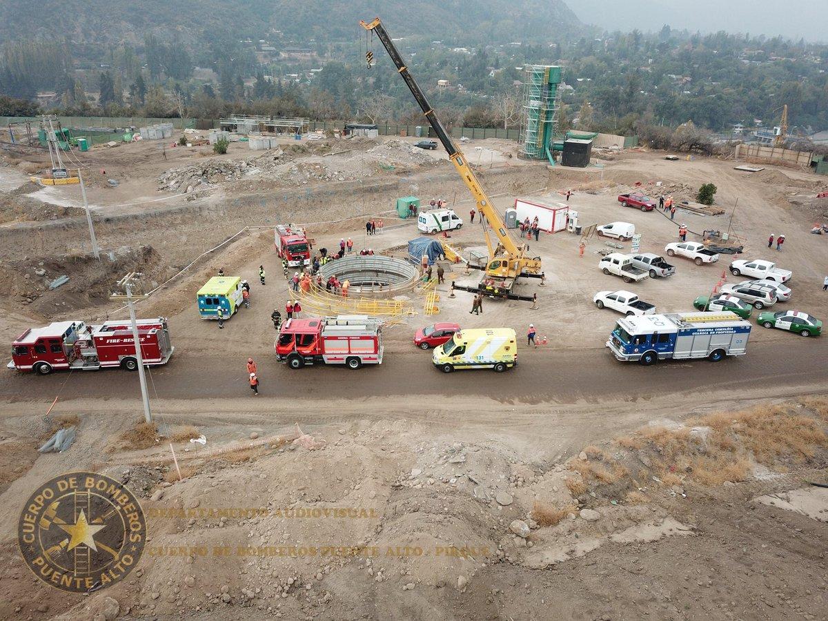 Trabajador murió tras caer en pozo de construcción de Aguas Andinas