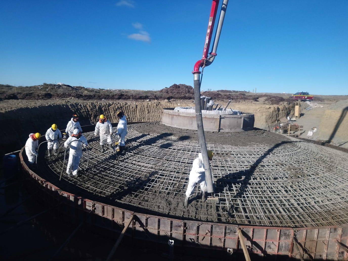 Concluye etapa clave del Parque Eólico de Magallanes: el hormigonado de las bases para los tres aerogeneradores