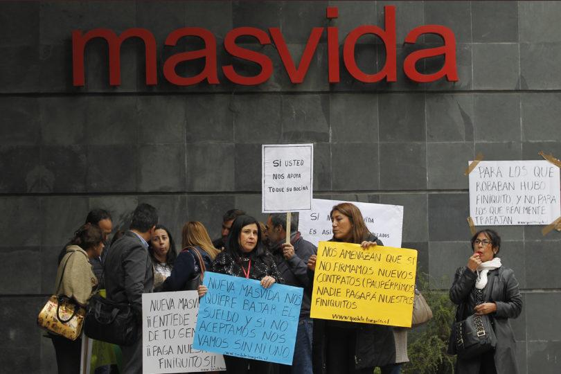 Suprema ordena a Nueva Masvida reintegrar ejecutivos de venta de anterior isapre