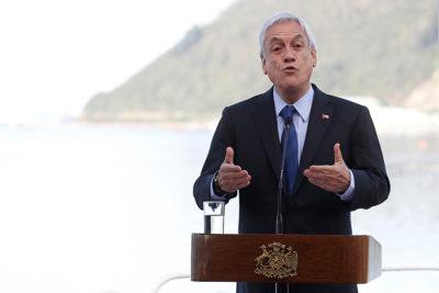 """Piñera en el Biobío: """"Vamos a ser implacables en el combate al terrorismo"""""""