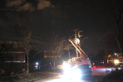 Enel: 14.453 clientes sin luz en la Región Metropolitana