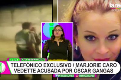 """VIDEO  """"Estaba desnudo de la cintura para abajo"""": vedette denuncia a Óscar Gangas y humorista responde"""
