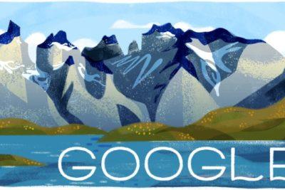 Google celebró con un Doodle los 60 años del Parque Nacional Torres del Paine