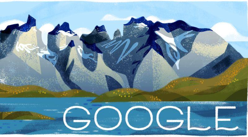 """""""Google celebró con un Doodle los 60 años del Parque Nacional Torres del Paine"""""""