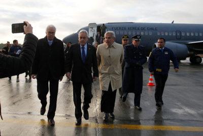 Piñera llega a Puerto Montt para inaugurar conexión de Fibra Óptica Austral