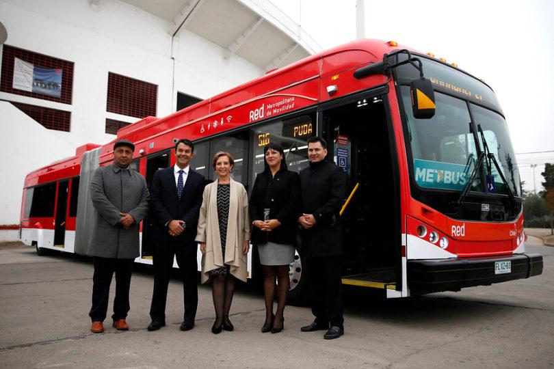 Primer bus eléctrico articulado circulará a prueba entre Pudahuel y Peñalolén