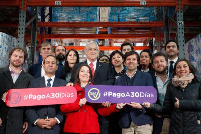 """Piñera por ley de pago a 30 días: """"Es un tremendo impulso a emprendedores"""""""
