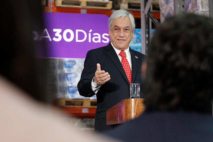 """""""Piñera valoró apoyo a reforma a las pensiones por sobre"""