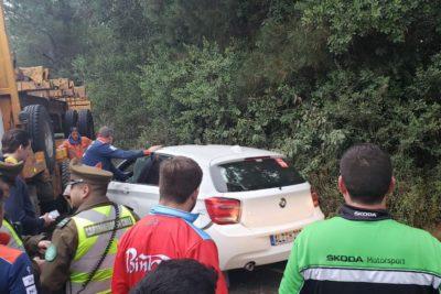 Así quedó el auto del piloto Sébastien Loeb tras accidente en la previa del Mundial de Rally en Concepción