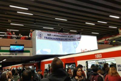 Trabajadores de Metro protestaron pidiendo mayor seguridad en las estaciones