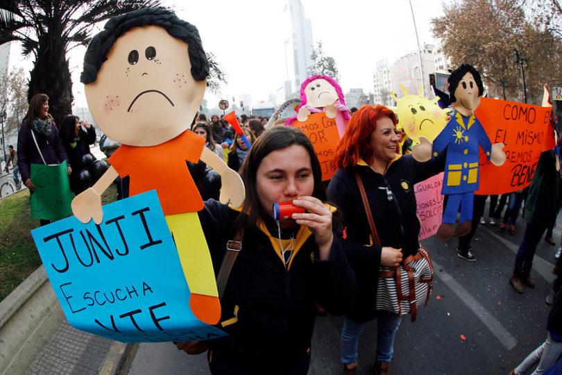Educación parvularia en Chile anuncia paro nacional