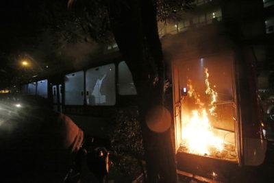 Joven acusado de quemar bus eléctrico estuvo 20 días preso: era inocente