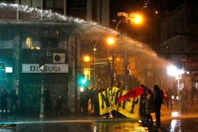 FOTOS | Cuenta Pública: se registraron los primeros incidentes en Valparaíso