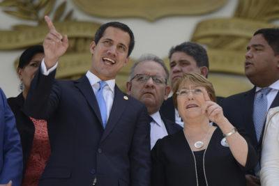"""Juan Guaidó tras reunión con Bachelet: """"Se instalará una oficina permanente para los derechos humanos en Venezuela"""""""