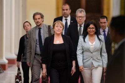 """Michelle Bachelet finaliza su visita a Venezuela: """"La situación humanitaria es grave"""""""