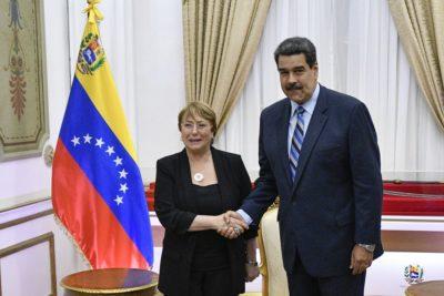 Bachelet se reunió con Maduro en su última actividad en Venezuela