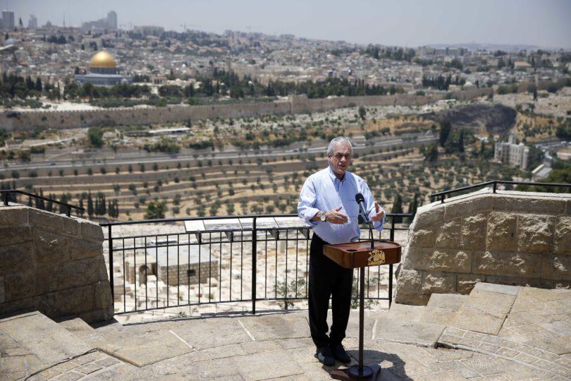 Piñera anunció en Jerusalén que embajada de Chile en Israel seguirá en Tel Aviv
