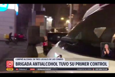 VIDEO |Así se llevó a cabo el primer control a botillerías que venden alcohol a menores en Las Condes