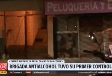 Así se llevó a cabo el primer control a botillerías que venden alcohol a menores en Las Condes