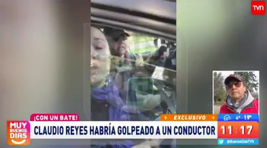 Claudio Reyes acusado de golpear con bate a un conductor