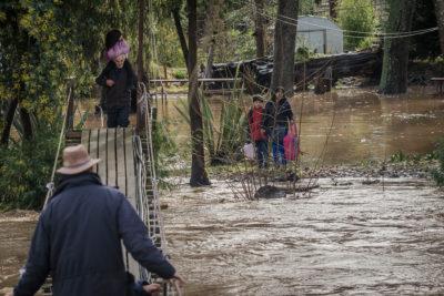 Sistema frontal deja más de 8 mil aislados entre Ñuble y La Araucanía