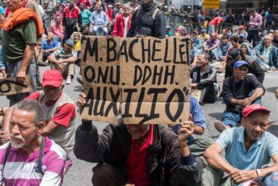 Manifestaciones en Caracas: el agitado primer día de reuniones de Michelle Bachelet